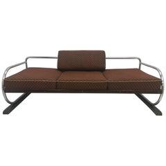 Chrome Bauhaus Robert Slezák 3-Seat Sofa, 1937