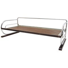 Chrome Bauhaus Sofa by Robert Slezák, Bohemia, 1930s
