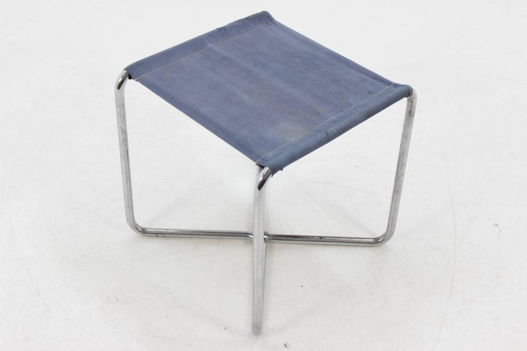 Chrome Bauhaus Stool B8, Marcel Breuer In Good Condition For Sale In Barcelona, ES