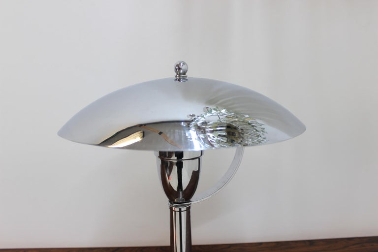 Mid-20th Century Chrome Bauhaus Table Lamp, 1930s For Sale