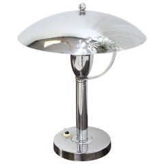 Chrome Bauhaus Table Lamp, 1930s