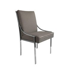 Chrome Curved Arm Dining Chair by Dillingham Manufacturing Company