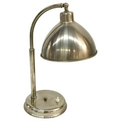 Chrome Desk Lamp with Adjustable Shade, 1930s