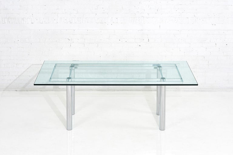 Mid-Century Modern Chrome Dining Table by Tobia Scarpa, 11960 For Sale