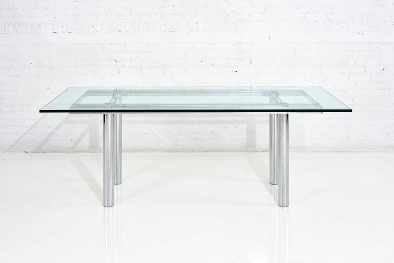 Italian Chrome Dining Table by Tobia Scarpa, 11960 For Sale