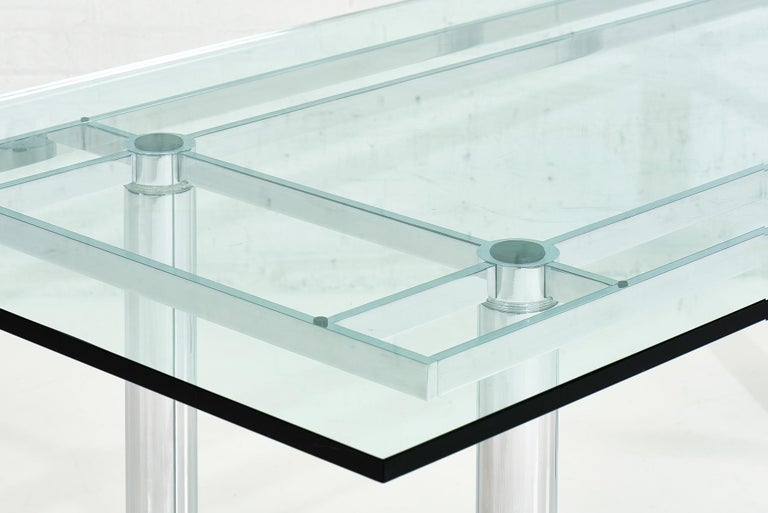 Chrome Dining Table by Tobia Scarpa, 11960 In Good Condition For Sale In Chicago, IL