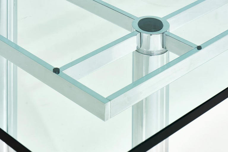 20th Century Chrome Dining Table by Tobia Scarpa, 11960 For Sale