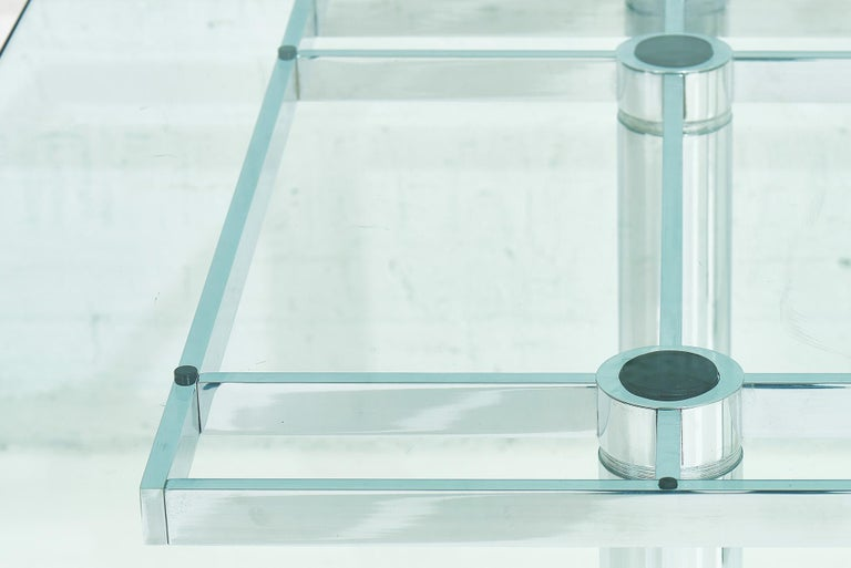 Glass Chrome Dining Table by Tobia Scarpa, 11960 For Sale
