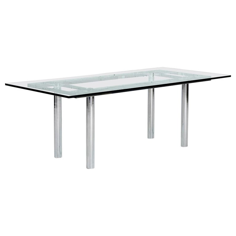 Chrome Dining Table by Tobia Scarpa, 11960 For Sale