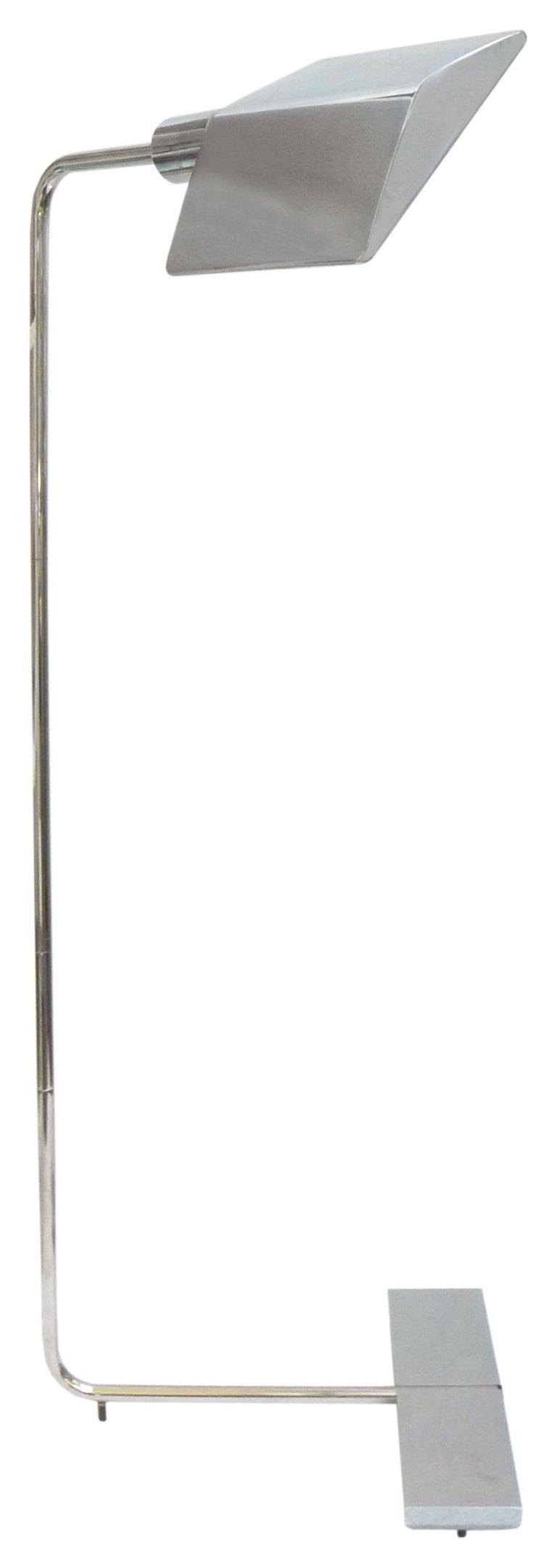 American Chrome Floor Lamp by Cedric Hartman For Sale