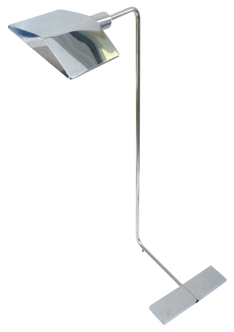 Chrome Floor Lamp by Cedric Hartman In Good Condition For Sale In Los Angeles, CA
