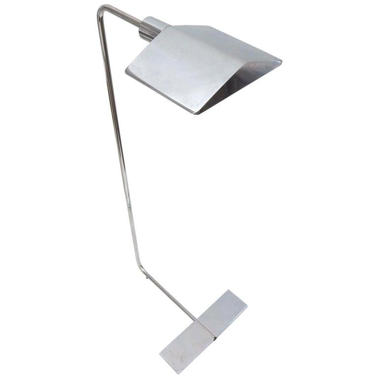Chrome Floor Lamp by Cedric Hartman For Sale