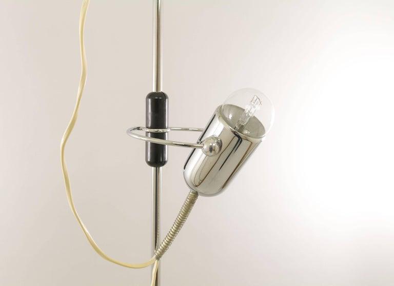 Mid-Century Modern Chrome Floor Lamp by Francesco Fois for Reggiani, 1960s For Sale