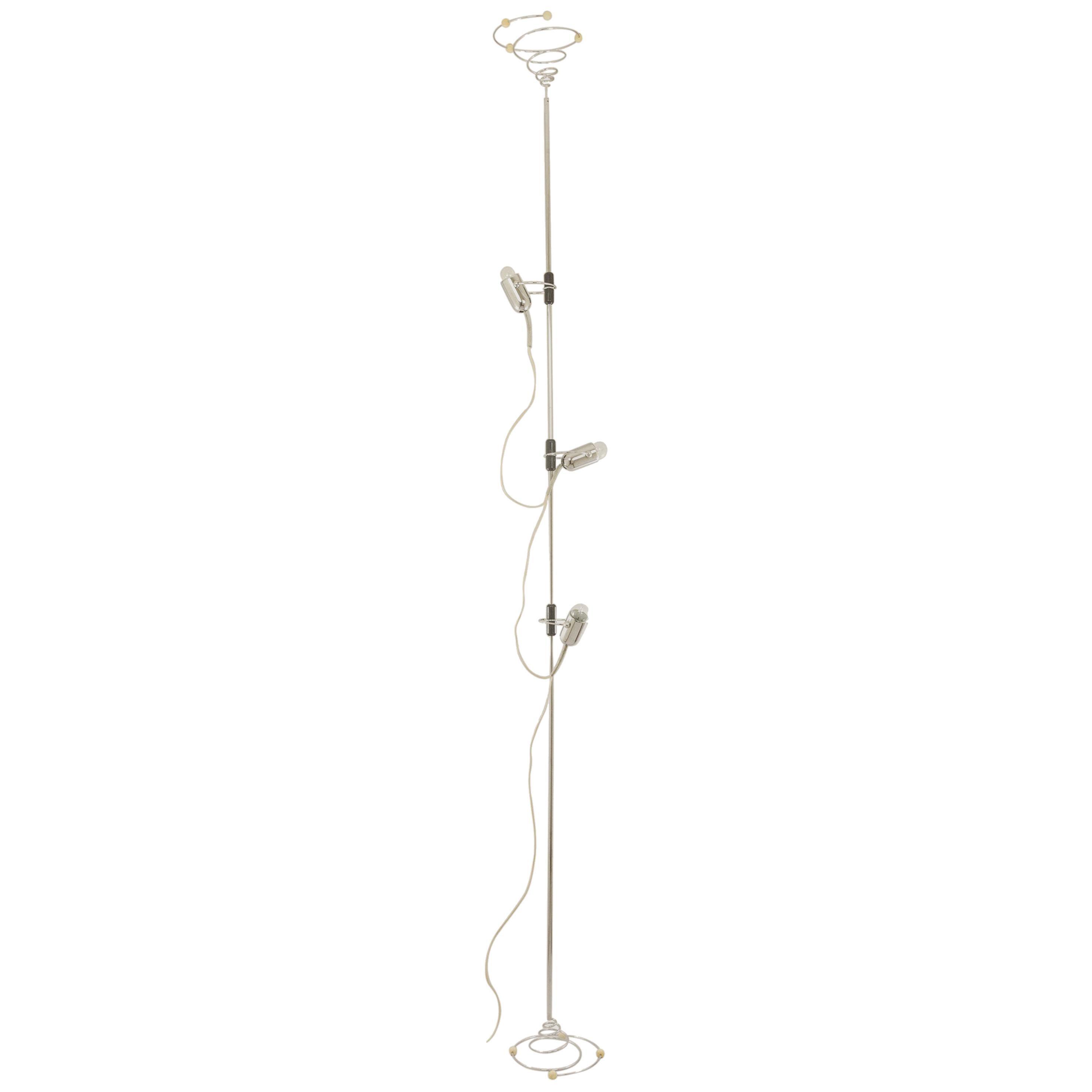 Chrome Floor Lamp by Francesco Fois for Reggiani, 1960s