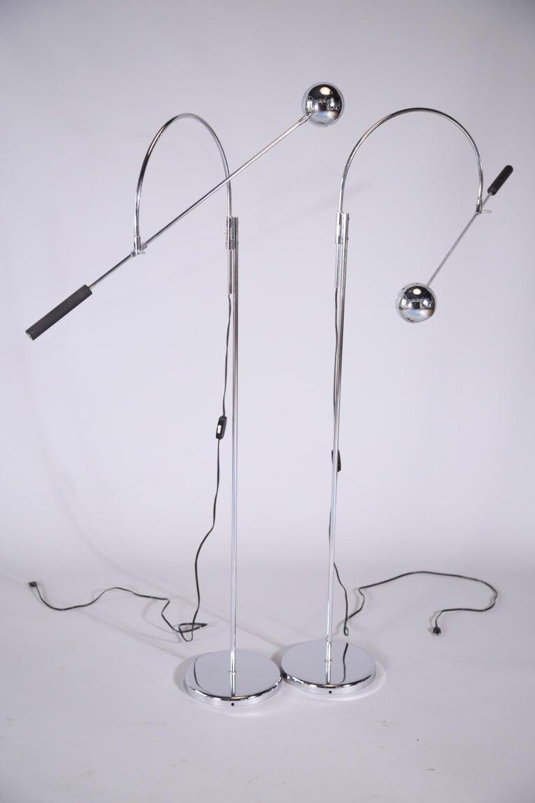 Chrome Floor Lamps by Sonnemen For Sale 6
