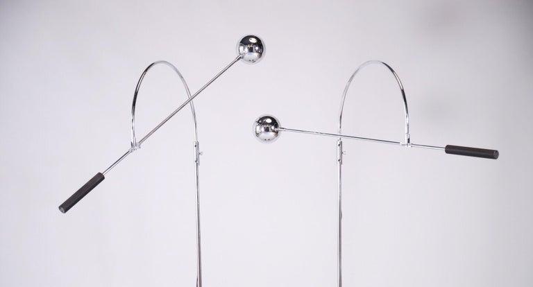 Chrome Floor Lamps by Sonnemen For Sale 1