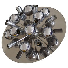 Chrome Flush Mount or Wall Light by Cosack, Germany, circa 1970s