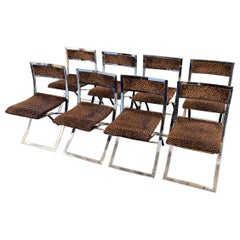 Chrome Folding Chairs by Marcello Cuneo, 1970, Italy