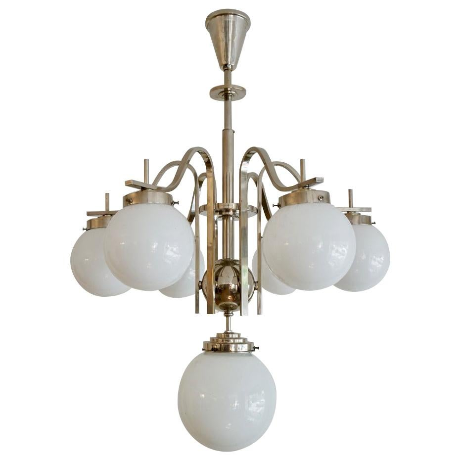 CHANDELIERS, a pair, from Liberty, 'Bunch of Grapes', glass