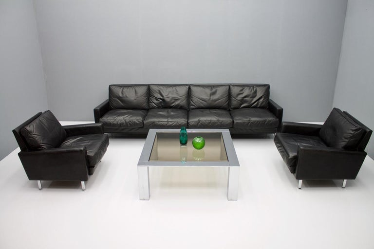 Chrome and Glass Coffee Table, 1970s For Sale 4