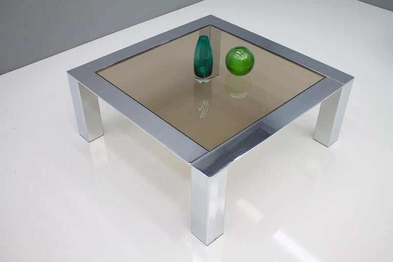 Chrome and Glass Coffee Table, 1970s In Good Condition For Sale In Frankfurt / Dreieich, DE