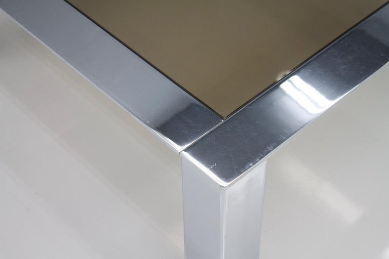 Chrome and Glass Coffee Table, 1970s For Sale 2