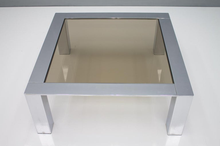 Chrome and Glass Coffee Table, 1970s For Sale 3