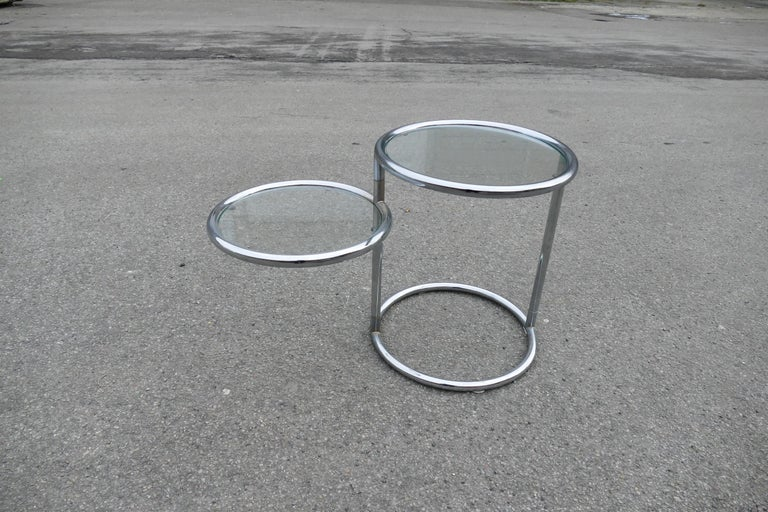 Vintage Art Deco double table from 1970s, Italy.