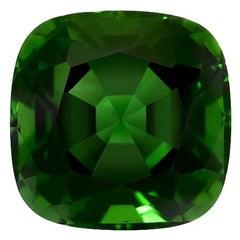 Chrome Green Tourmaline Cushion 3.30 Carat