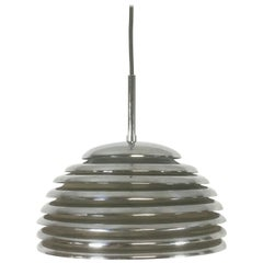 Chrome Hanging Pendant Lamp Light by Kazuo Motozawa for Staff Germany, 1960s
