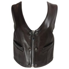 Chrome Hearts Brown Leather Vest