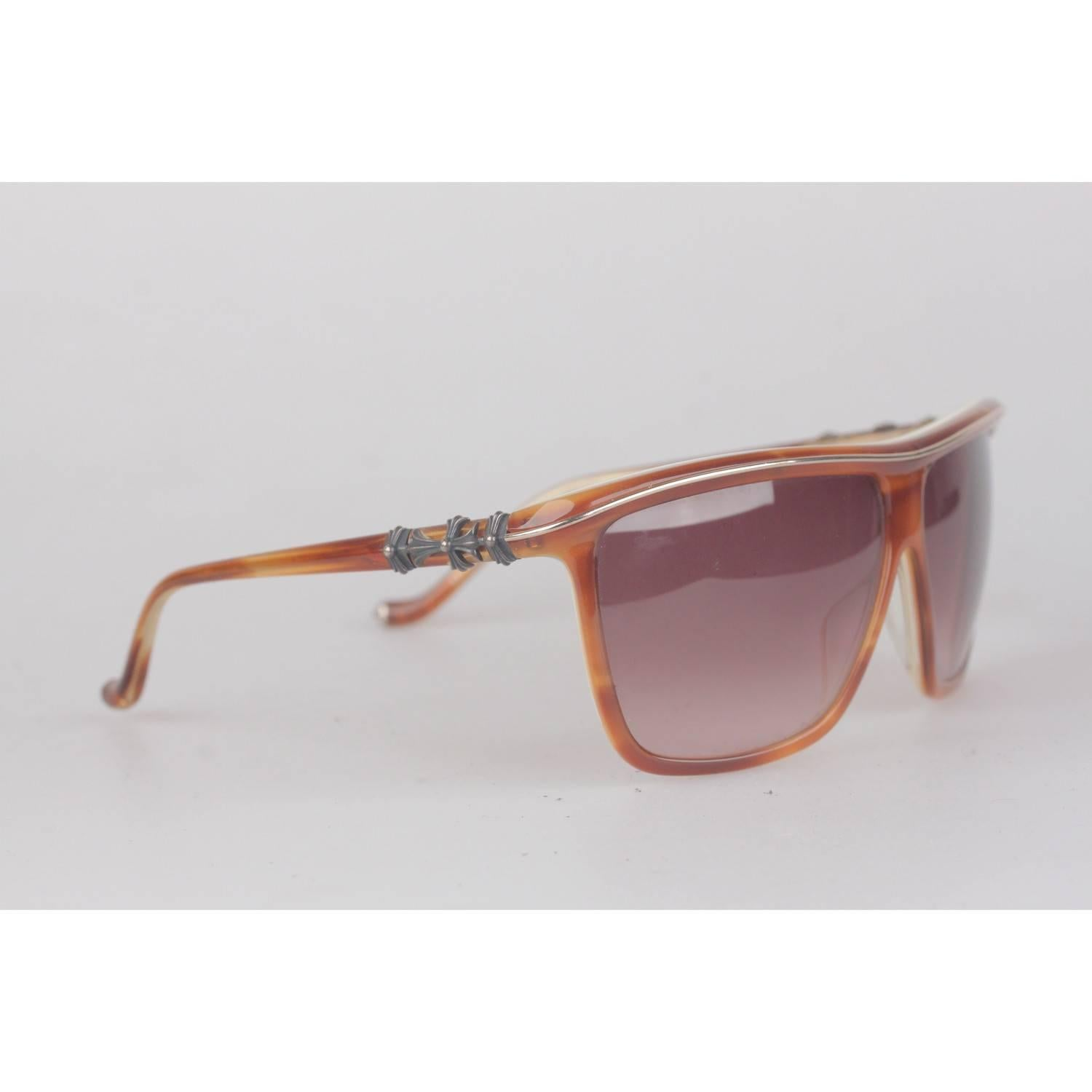 8a786837d0e CHROME HEARTS Brown Sunglasses mod PUSSY WIILOW 60-10mm with CASE For Sale  at 1stdibs