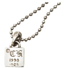 Chrome Hearts Sterling Silver 1998 Pendant Necklace