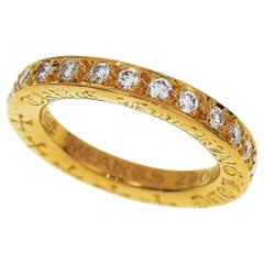 Chrome Hearts TFL Band Eterinty Ring Diamond 22 Karat Yellow Gold