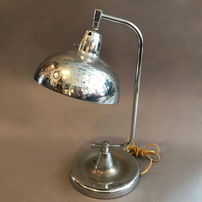 American Chrome Jewelers Table Lamp by Apollo For Sale