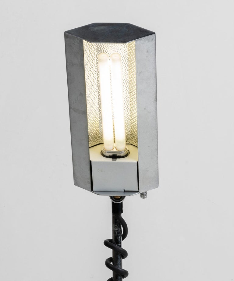 20th Century Chrome Lamp with Coil For Sale
