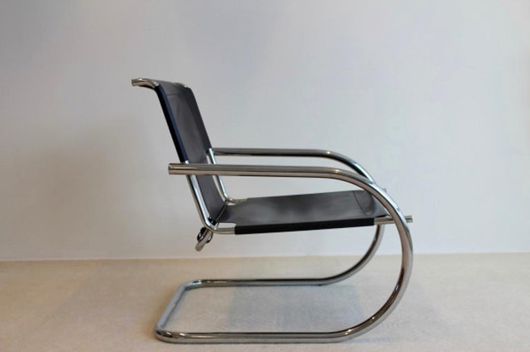 Chrome Leather Cantilever Chair by Arrben Italy In Good Condition For Sale In Voorburg, NL