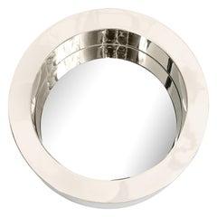 Chrome Modernist Mirror