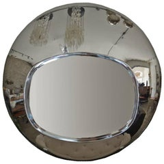 Chrome Orb Mirror, circa 1970s