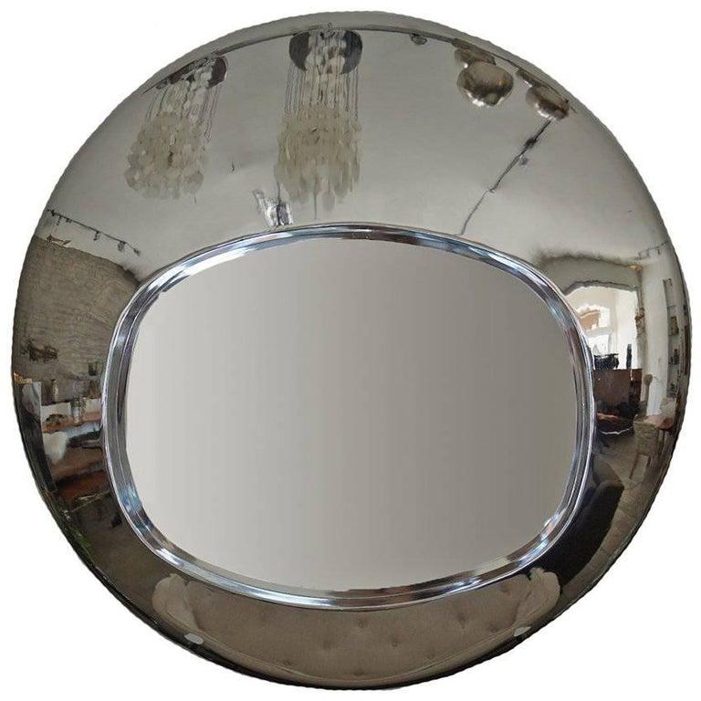 Chrome Orb Mirror, circa 1970s