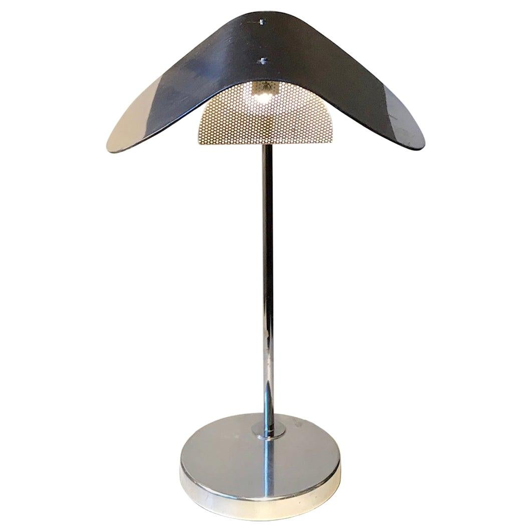 Chrome Plated Minimalist Table Lamp by Bergboms, Sweden, 1980s