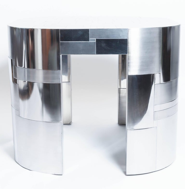 Modern Chrome Plated Occasional Table by Paul Evans, Cityscape PE500 Series, 1975