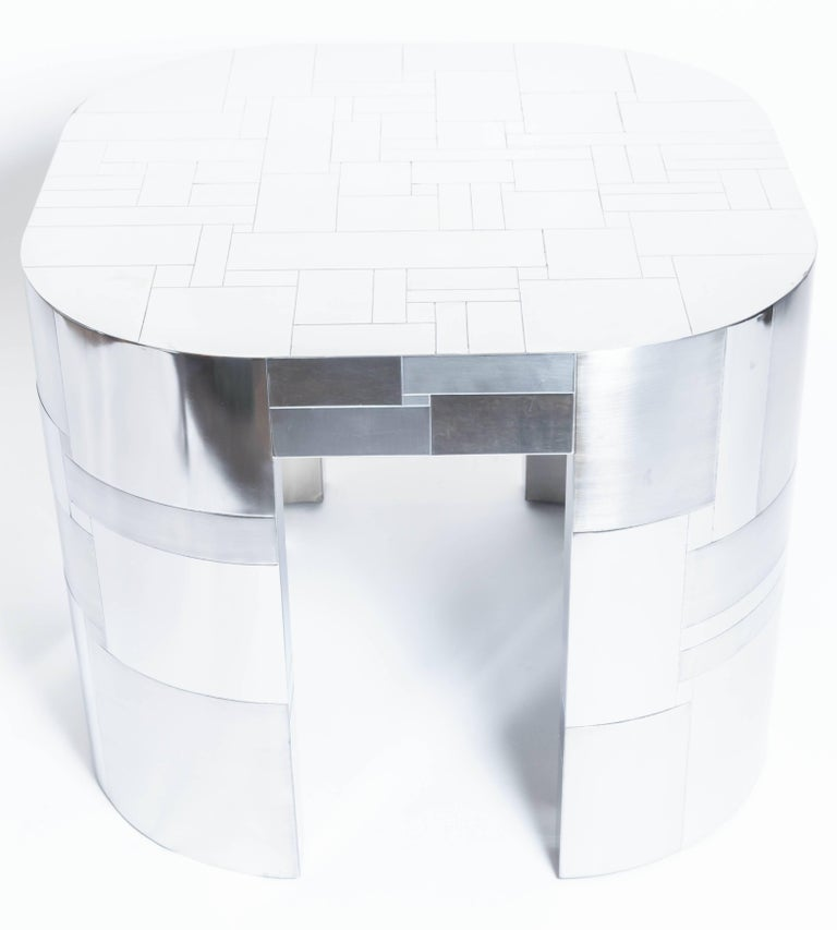 Chrome Plated Occasional Table by Paul Evans, Cityscape PE500 Series, 1975 In Good Condition In New York City, NY