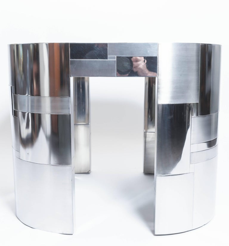 Late 20th Century Chrome Plated Occasional Table by Paul Evans, Cityscape PE500 Series, 1975 For Sale