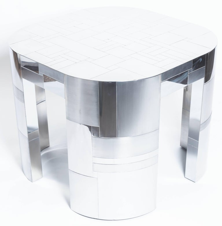Chrome Plated Occasional Table by Paul Evans, Cityscape PE500 Series, 1975 For Sale 1