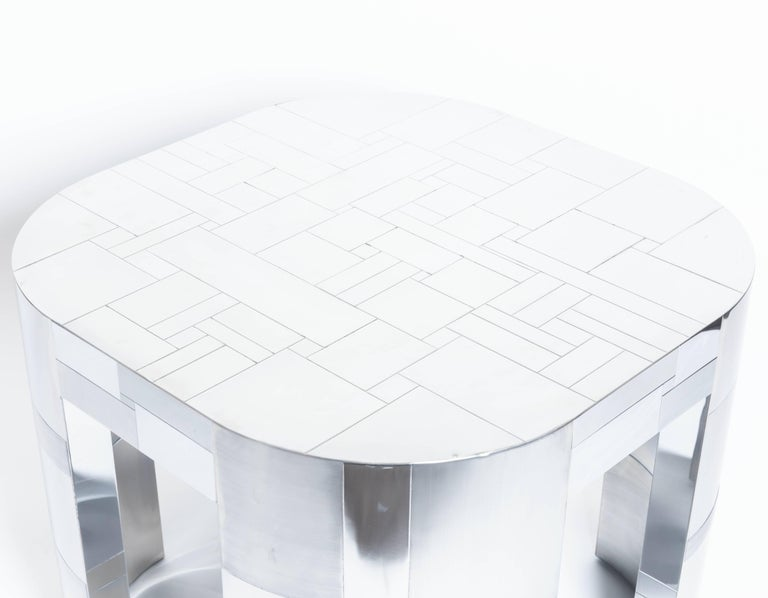 Chrome Plated Occasional Table by Paul Evans, Cityscape PE500 Series, 1975 For Sale 2