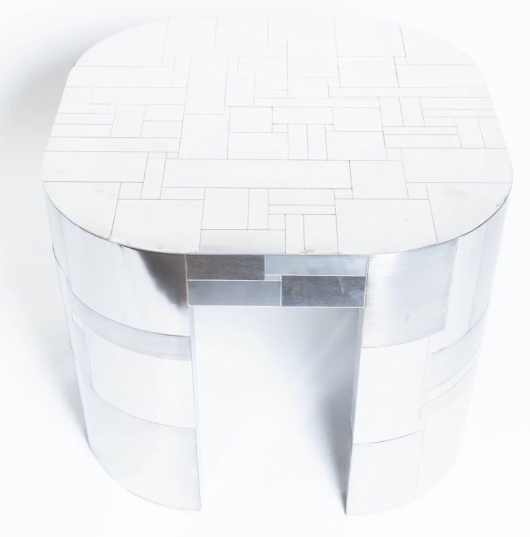 Chrome Plated Occasional Table by Paul Evans, Cityscape PE500 Series, 1975 3