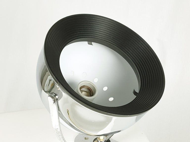 Italian Chrome-Plated & Painted Metal 1960s-1970s Wall Lamps by Gae Aulenti for Stilnovo For Sale