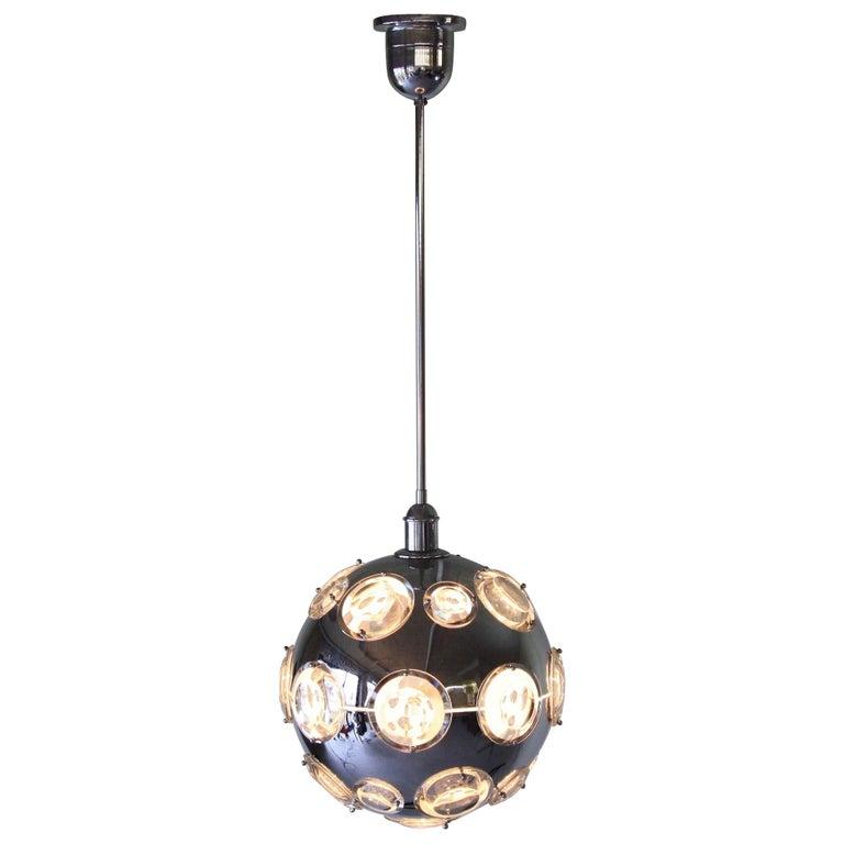 Chrome Plated Pendant Lamp by Oscar Torlasco, 1960s