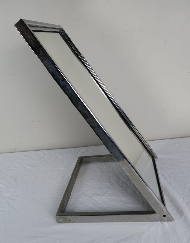 Chrome-Plated Vanity Mirror, circa 1960 In Good Condition For Sale In Los Angeles, CA